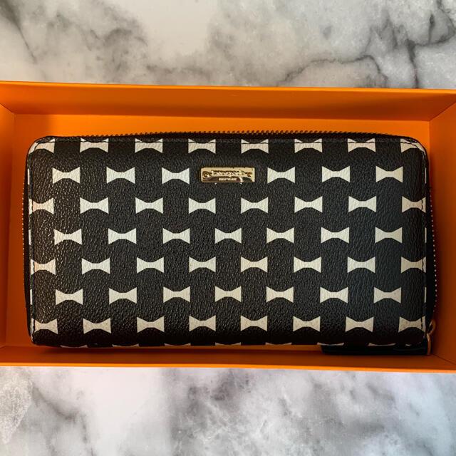 kate spade new york(ケイトスペードニューヨーク)の【値下げ】Kate Spade 長財布 リボン柄 レディースのファッション小物(財布)の商品写真