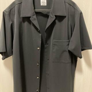 EDIFICE - オープンカラーシャツ 半袖シャツ エディフィス 黒