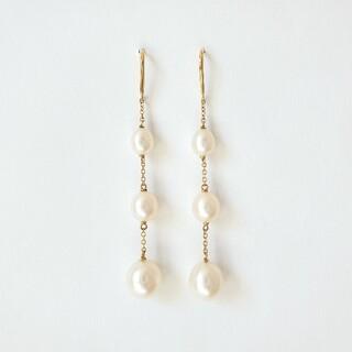 Tiffany & Co. - ティファニー│チェーンピアス パール バイ ザ ヤード K18ゴールド│極美品