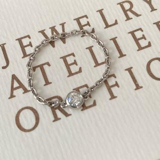 Tiffany & Co. - オレフィーチェ OREFICE ヌード チェーンリング プラチナ VSクラス