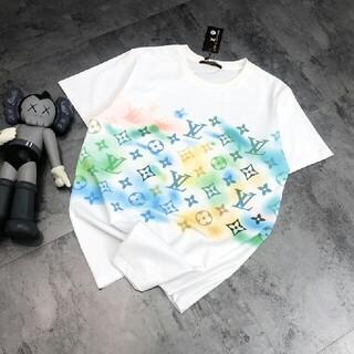LOUIS VUITTON - 新しいグラデーションカラープリント半袖Tシャツ
