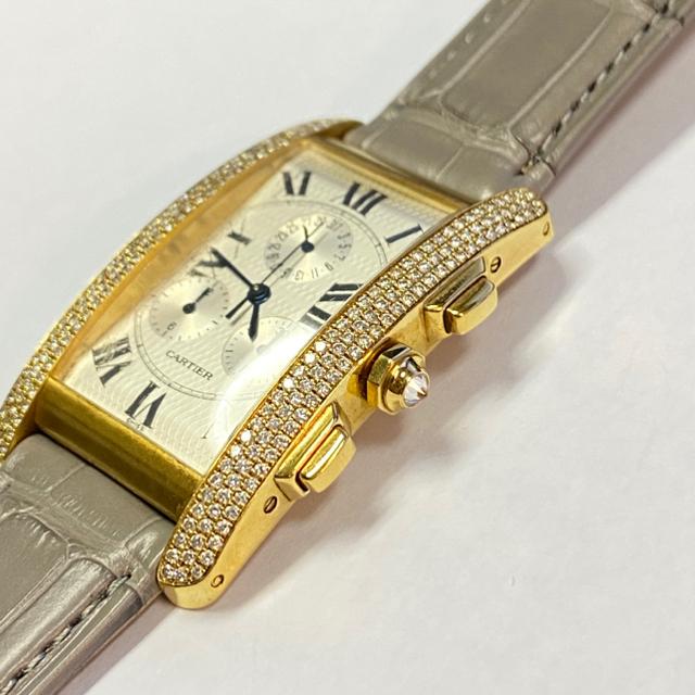 Cartier(カルティエ)のカルティエ】タンクアメリカンLM◆純正ダイヤモンド◆K18YG cartier  メンズの時計(腕時計(アナログ))の商品写真