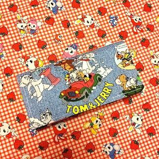 トムとジェリーカラフルかわいい財布♡ハンドメイドポーチ♡長財布ポーチ♡