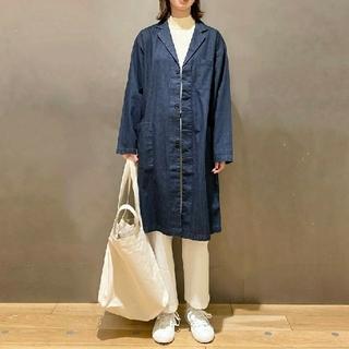MUJI (無印良品) - 〓新品〓 無印良品インド綿デニムコート男女兼用/XXS~XS/インディゴブルー