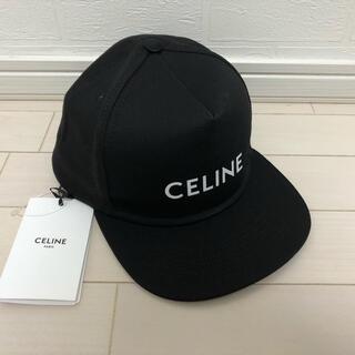 セリーヌ(celine)の【新品未使用】59.0 CELINE ロゴ ベースボール キャップ ブラック(キャップ)