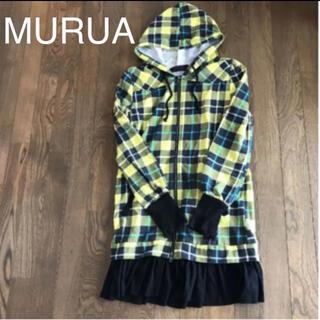 ムルーア(MURUA)のMURUA★チェックフード付きワンピース(ひざ丈ワンピース)