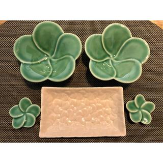 バリ 食器 ジェンガラケラミック  小鉢 箸置き 小皿 セット