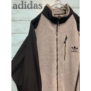 adidas - 【レアカラー】adidas アディダス ジップアップ フリース デカロゴ 刺繍