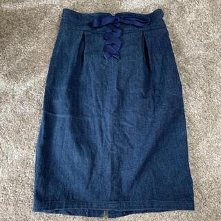 フィント(F i.n.t)のFi.n.t♡ フロントレースアップタイトスカート ♡(ひざ丈スカート)