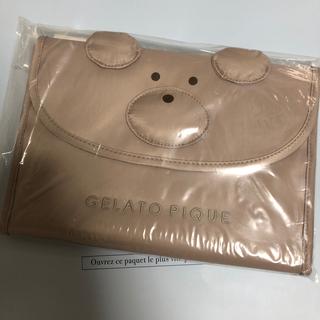 gelato pique - ジェラートピケ 母子手帳 L  くま  ベア  ピンクベージュ