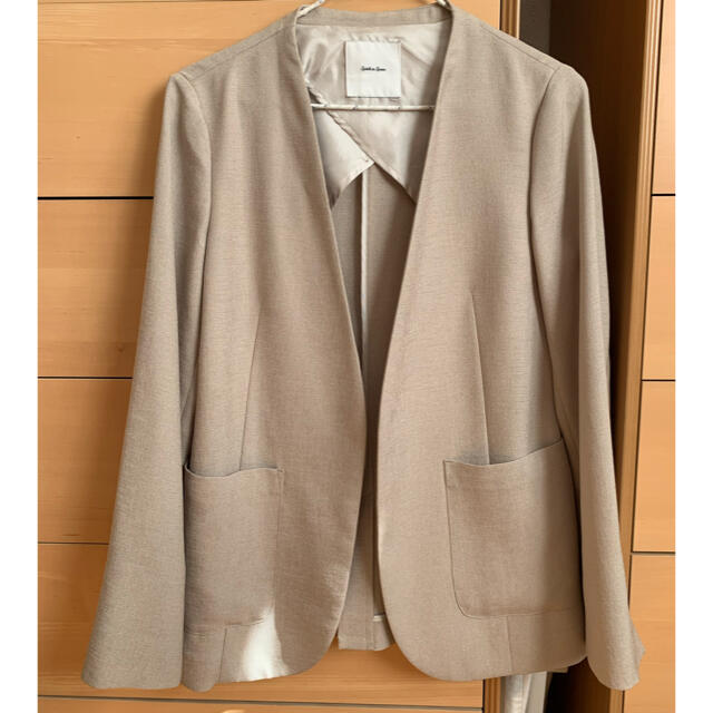 Spick and Span(スピックアンドスパン)のリネンライクカラーレスジャケット レディースのジャケット/アウター(ノーカラージャケット)の商品写真