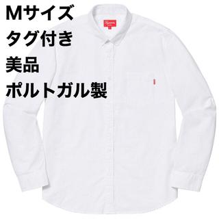 Supreme - 美品 Supreme Oxford Shirt Mサイズ White 白シャツ