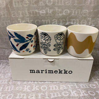 marimekko - 【新品】マリメッコ ヒュフマ ヴィヒキルース ロッキ ラテマグ 3個セット