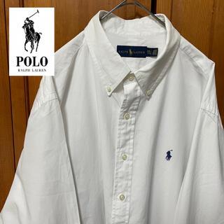 Ralph Lauren - 【定番】ラルフローレン BDシャツ 刺繍ロゴ 古着 90s ストリート XXL