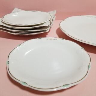 ジバンシィ(GIVENCHY)のジバンシー    大皿 + ケーキ皿  6点セット    〈薔薇〉(食器)