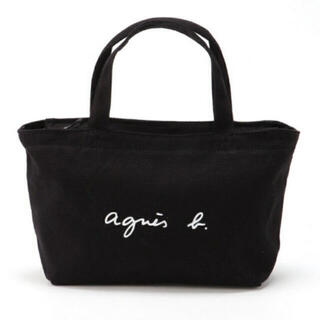 agnes b. - アニエスベートートバッグ ブラック Sサイズ ミニトートバッグ