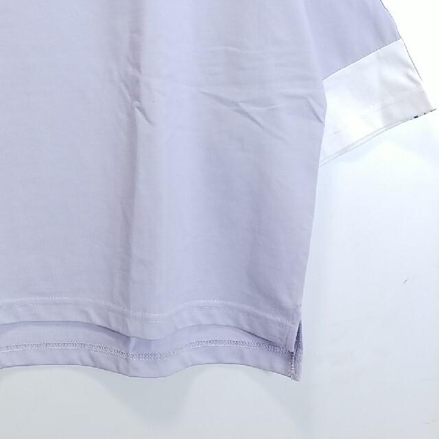 FILA(フィラ)の新品 フリーサイズ ビッグシルエット Tシャツ フィラ パープル f26 レディースのトップス(Tシャツ(半袖/袖なし))の商品写真