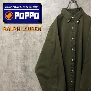POLO RALPH LAUREN - ポロバイラルフローレン☆カナダ製ワンポイント刺繍ロゴボタンダウンシャツ 90s