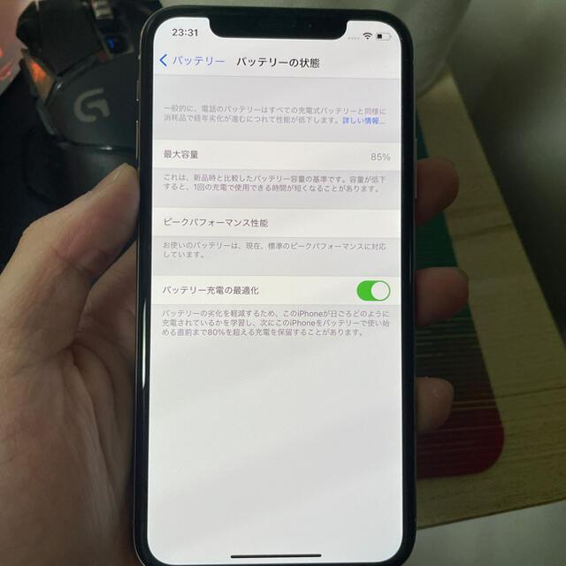 Apple(アップル)の iphonexs 64g simfree シルバー スマホ/家電/カメラのスマートフォン/携帯電話(スマートフォン本体)の商品写真