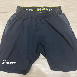 ATHLETA - ATHLETA  パンツ サッカー ブラック Sサイズ