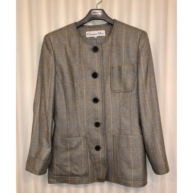 Christian Dior(クリスチャンディオール)のChristian Dior クリスチャンディオール ジャケット レディースのジャケット/アウター(ノーカラージャケット)の商品写真