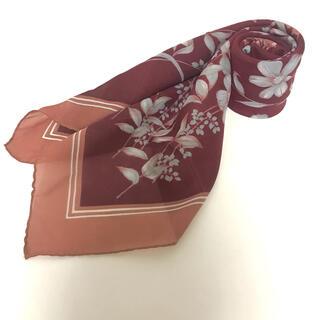 ロキエ(Lochie)の古着 ヴィンテージフラワー ブラウン スカーフ 10(バンダナ/スカーフ)