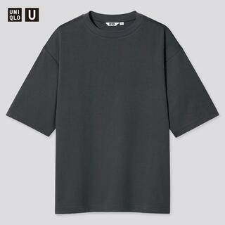 UNIQLO - UNIQLO ユニクロ エアリズムコットンオーバーサイズTシャツ グレー