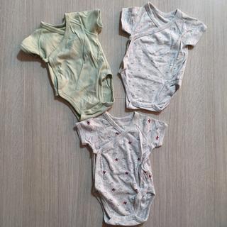 UNIQLO - ユニクロ 半袖ボディースーツ ベビー肌着3枚セット