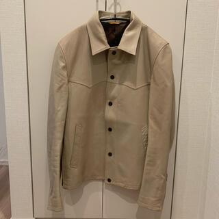 ポールスミス(Paul Smith)のPaul Smith ラムレザートラッカーシャツM レザーシャツジャケット(レザージャケット)