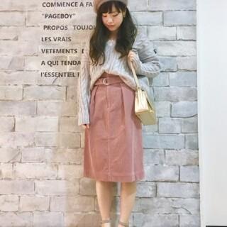ページボーイ(PAGEBOY)のPAGEBOY コーデュロイタイトスカート(ひざ丈スカート)