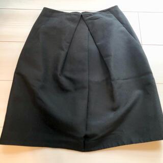 ボールジィ(Ballsey)のballsey タックスカート トゥモローランド 黒(ひざ丈スカート)