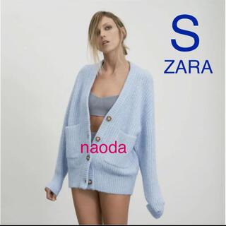 ザラ(ZARA)の【タグ付き新品】ザラ ポケット付き ニットカーディガン(カーディガン)