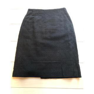 ボールジィ(Ballsey)のballsey  ツイード タイトスカート ネイビー(ひざ丈スカート)