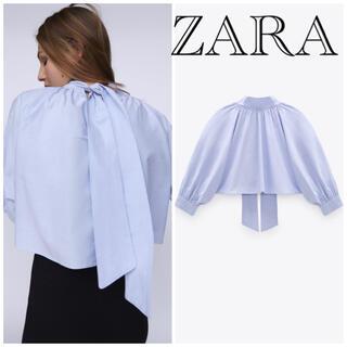 ZARA - 大人気❣⃛希少❗ ZARA ザラ バックリボン付きトップス