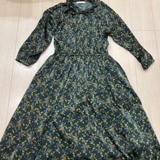 ショコラフィネローブ(chocol raffine robe)の最終値下げ chocoI raffine robe ワンピース 花柄(ロングワンピース/マキシワンピース)