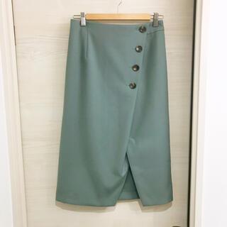アーバンリサーチロッソ(URBAN RESEARCH ROSSO)のアーバンリサーチ グリーン スカート(ひざ丈スカート)