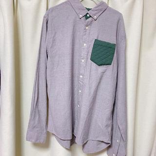 Design Tshirts Store graniph - 【メンズL】グラニフ グレー 長袖 シャツ