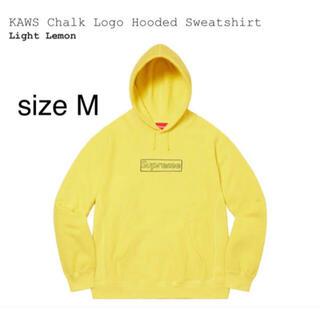 Supreme - supreme kaws chalk logo hooded yellow M