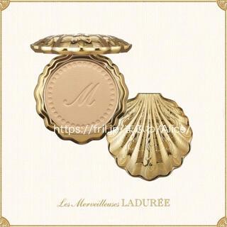 レメルヴェイユーズラデュレ(Les Merveilleuses LADUREE)の20 パウダー ファンデ リミテッド エディション 貝殻ケース セット ラデュレ(ファンデーション)