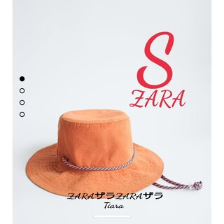 ZARA - 新品 ザラ ZARA バケットハット 帽子 オレンジ 春 S