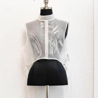 mame - 希少21SSMame♡Floral Jacquard Sheer Vest