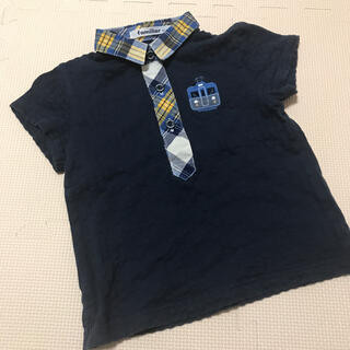familiar - ファミリア ポロシャツ  90 電車 ネイビー