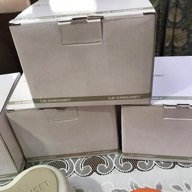 LE CREUSET(ルクルーゼ)のル クルーゼ ハート♡♡♡♡型ココット 4個 インテリア/住まい/日用品のキッチン/食器(食器)の商品写真