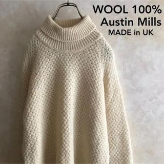 アメリヴィンテージ(Ameri VINTAGE)の美品 UK製 ウール100% ニットセーター タートルネック M(ニット/セーター)