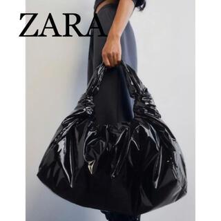 ZARA - 11 ZARA ザラ 新品 フェイクパテントレザー トートバッグ