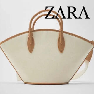 ZARA - 8 ZARA ザラ 新品 完売品 キャンバス地トートバッグ