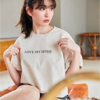 snidel - Her lip to LOVE MY HOME Tシャツ