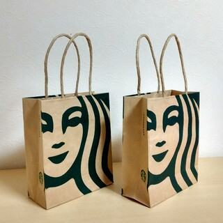スターバックスコーヒー(Starbucks Coffee)のスターバックス コーヒー  手提げ紙袋(2袋セット)(その他)