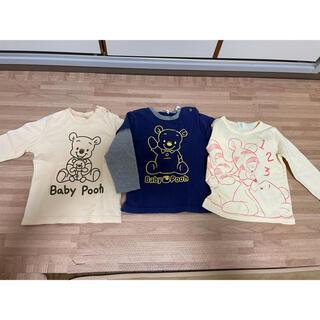 Disney - プーさん ディズニー Tシャツ 長袖 90 3枚セット