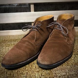 Crockett&Jones - トレーディングポスト チャッカブーツ 革靴 スエード ダイナイトソール